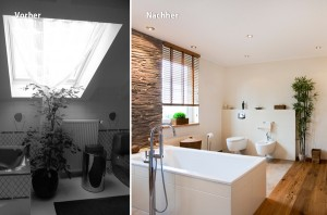 Wohngesunde Badezimmer-Komplett-Modernisierung