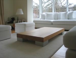 Couch- und Beistelltisch Buche massiv